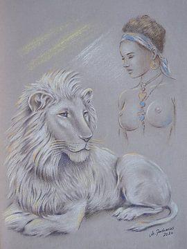 Heilige witte leeuw - Sjamanisme van Marita Zacharias