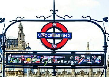 Westminster station van Leopold Brix