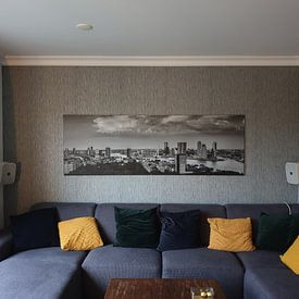 Photo de nos clients: Rotterdam Skyline Panorama vanaf Euromast 3:1 sur Vincent Fennis, sur toile
