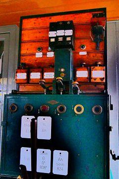 Spoorwegmuseum - seinhuisje mechanisme van Wout van den Berg