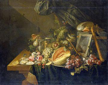 Stillleben mit kopulierenden Spatzen, Cornelis de Heem