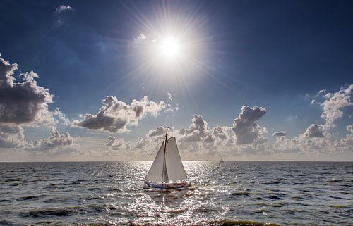 Zeilboot op het IJsselmeer van