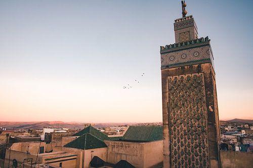 Zonsondergang over de medina