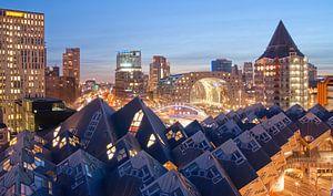 Rotterdam by night van Nadine Salas