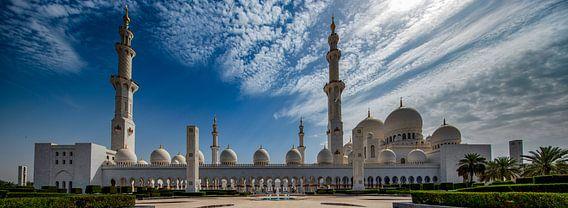 Fontein voor Sheikh Zayed Mosque in Abu Dhabi van Rene Siebring