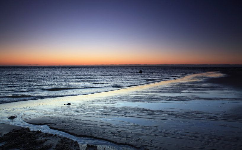 Zonsondergang op het strand van Sylt van Frank Herrmann