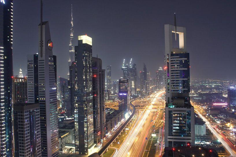 Skyline Dubai van Lars Korzelius