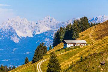 Bergbedrijf bij Kitzbühel in Oostenrijk van Werner Dieterich