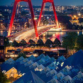 Les maisons Willemsbrug et Cube à Rotterdam sur Thom Brouwer