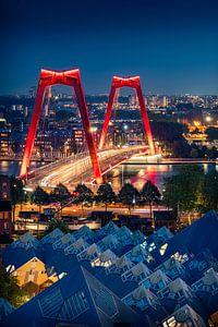 De Willemsbrug en Kubuswoningen in Rotterdam