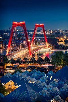 Die Häuser Willemsbrug und Cube in Rotterdam von Thom Brouwer