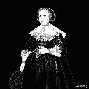 Portret van een jonge vrouw van Zoë Hoetmer