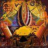 Hedendaags en abstract origineel werk van geometrische vormen van EL QOCH thumbnail