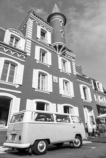 Klassieke Volkswagen T2 in Le Crotoy, Frankrijk / 2014