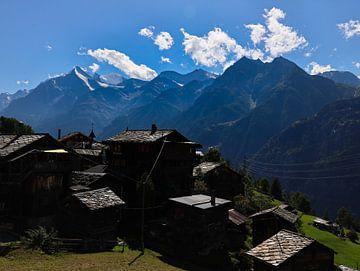 Alpen dorp van Marieke Funke