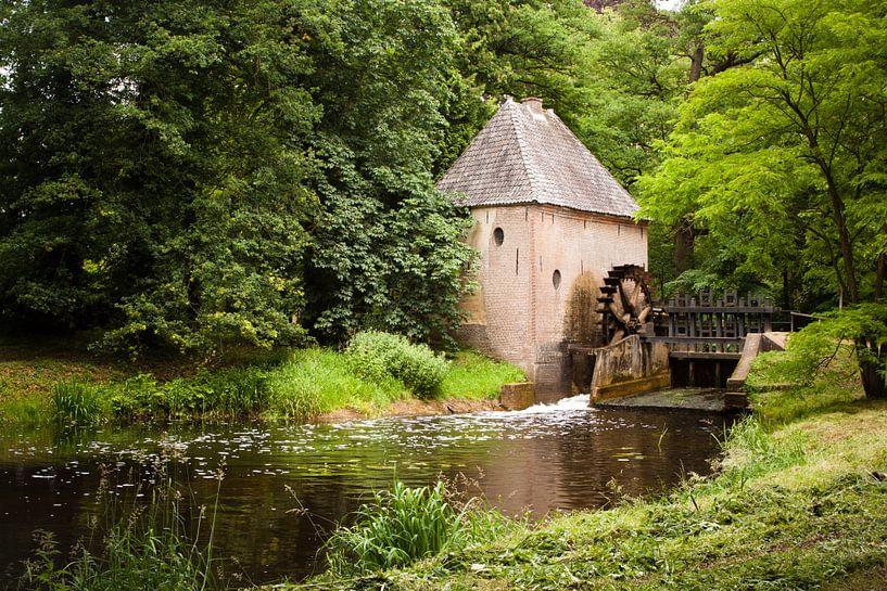 Watermolen bij het kasteel Hackfort van Ada Zyborowicz