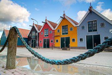 gekleurde huisjes in Zoutkamp von Hollandse Kijker