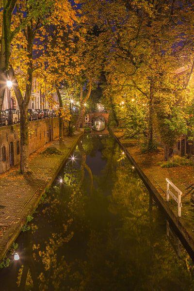 Nieuwegracht in Utrecht in de avond, herfst 2016 - 1 van Tux Photography