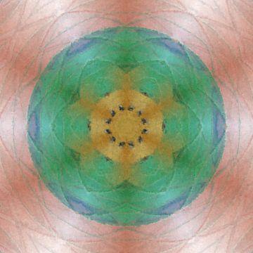 Abstract bloem mandala van Maurice Dawson