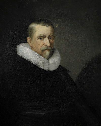 Portret van een man met rijke kraag