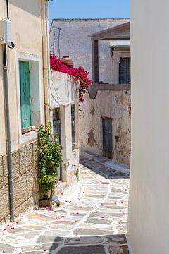 Village sur l'île grecque de Naxos, en Grèce.