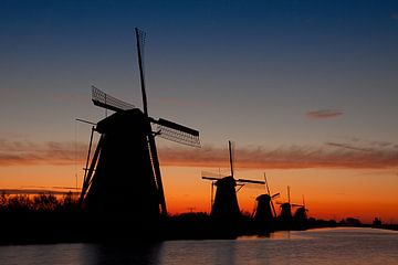 Kinderdijk voor zonsopkomst van Halma Fotografie