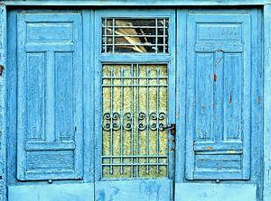 Deur in blauw