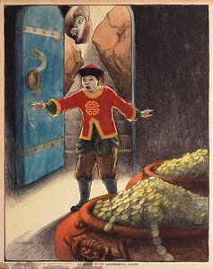 Aladdin en de Wonderful Lamp, Elizabeth Tyler van Vintage Afbeeldingen