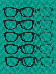 Glasses Black & Blue