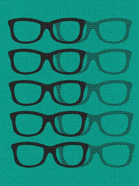 Glasses Black & Blue van Mr and Mrs Quirynen