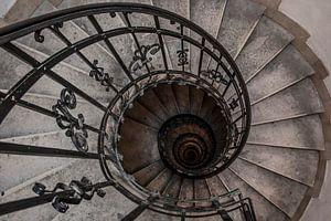 Oude spiraal trap