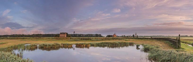 Panorama Schokland haven van Jan Koppelaar
