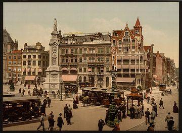 De Dam, Amsterdam von Vintage Afbeeldingen