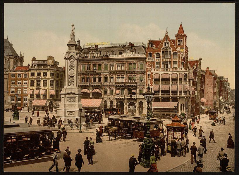 De Dam, Amsterdam van Vintage Afbeeldingen