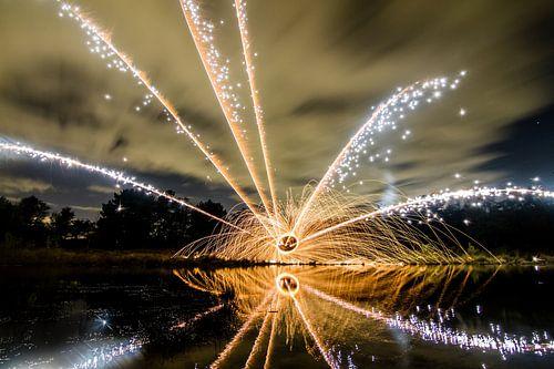 Lightpainting 10 van Eugene Klinkenberg