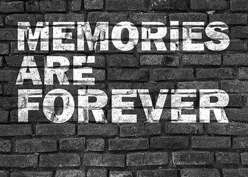 Memories are Forever! Graffiti schwarz weiß von KalliDesignShop