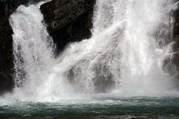 Waterval van smeltwater in Canada von J.A. van den Ende