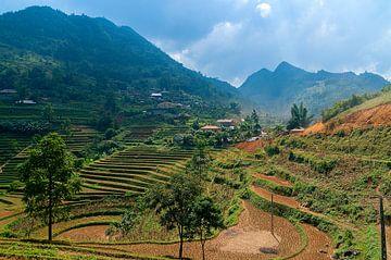 Vietnam: Cán Cấu markt (Giang Ta Chai) van Maarten Verhees