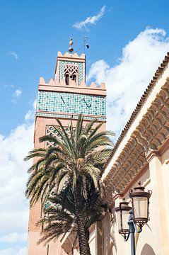 Toren van de Kasbah moskee in Marrakesh