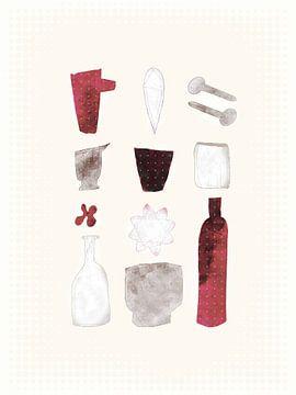 Komposition mit Flaschen - Flaschenschubladen von Joost Hogervorst