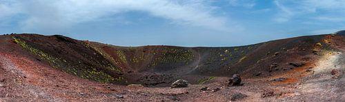 Krater van de Etna op Sicilië