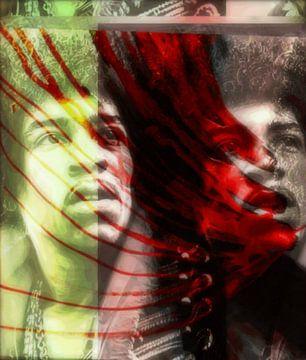 Jimi Hendrix Modern Art 02  van Felix von Altersheim