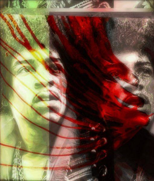 Jimi Hendrix Modern Art 02  von Felix von Altersheim
