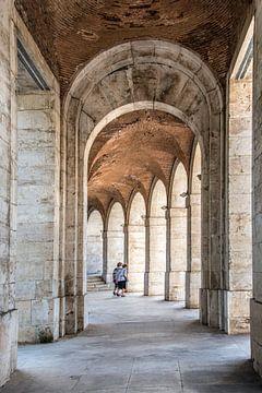 Galerij in het koninklijk paleis van Aranjuez in Spanje van Harrie Muis