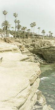 SAN DIEGO Sunset Cliffs | Vintage Panorama van Melanie Viola