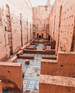Ruines du vieux palais de Marrakech sur Dayenne van Peperstraten