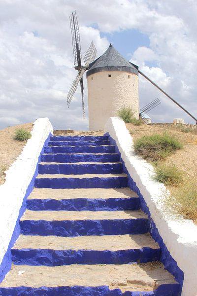 Don Quichote windmill, Spain van Inge Hogenbijl