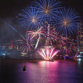 Feuerwerk World Port Tage 2016 in Rotterdam von MS Fotografie | Marc van der Stelt