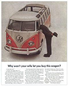 VW-BUS-WERBUNG 60ER JAHRE