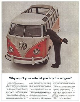 VW BUS RECLAME 60S van Jaap Ros